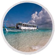 In Harmony With Nature. Maldives Round Beach Towel