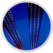 In Lights Abstract Round Beach Towel
