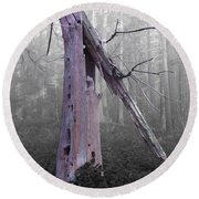 In Memory Of A Tree Round Beach Towel