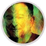 In Memory Of Robin Williams Round Beach Towel