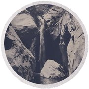 In My Lifetime Round Beach Towel by Laurie Search