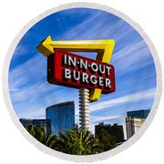 In N Out Round Beach Towel
