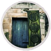 In Old Calton Cemetery Round Beach Towel by RicardMN Photography