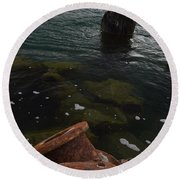 In Our Rusty Submarine Round Beach Towel