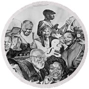 In Praise Of Jazz V Round Beach Towel