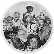 In Praise Of Jazz V Round Beach Towel by Steve Harrington