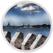 In Remembrance V7 Round Beach Towel