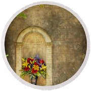 In The Alcove Round Beach Towel