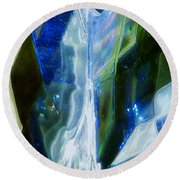 In The Blue Realm Round Beach Towel