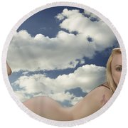 In The Cloud 1082 .02 Round Beach Towel