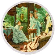 In The Conservatory  Round Beach Towel