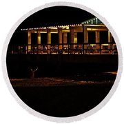 In The Dark I Am Invisible Round Beach Towel