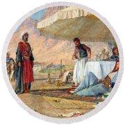 In The Desert Of Mount Sinai Round Beach Towel