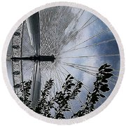 In The Eye Of The Beholder Round Beach Towel