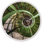 In The Eye Of The Spiral  Round Beach Towel