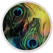 In The Eyes Of Others Round Beach Towel