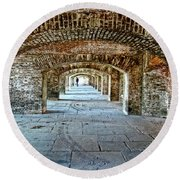 In The Fort Arches Round Beach Towel