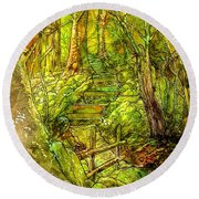 In The Heart Of The Forest Round Beach Towel