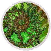 In The Jungle  Round Beach Towel by Heidi Smith