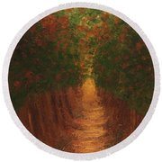In The Lane Round Beach Towel