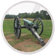 In The Line Of Fire - Manassas Battlefield Round Beach Towel