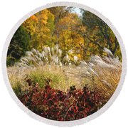 In The Meadow 2 Round Beach Towel