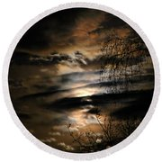 In The Midnight Hour II Round Beach Towel