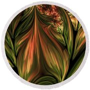 In The Midst Of Nature Abstract Round Beach Towel