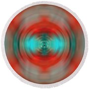 In The Moment - Energy Art By Sharon Cummings Round Beach Towel