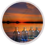 In The Morning At 4.33 Round Beach Towel by Veikko Suikkanen