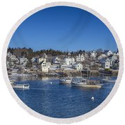 In The Morning Light Round Beach Towel