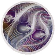 In The Night - Square Version Round Beach Towel