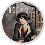 In The Outskirts Of Paris Round Beach Towel
