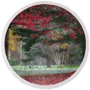 In The Park Square Round Beach Towel