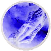 In The Peace Of Books Round Beach Towel