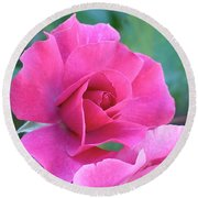 In The Pink Round Beach Towel by Rona Black