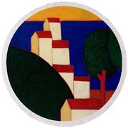 In The Provencal Alps Round Beach Towel