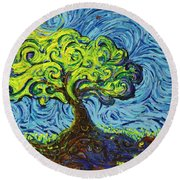 In The Shade Of Glory Round Beach Towel