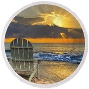 In The Spotlight Round Beach Towel