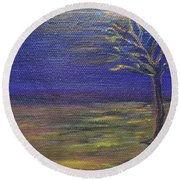 In The Still Of The Night  Round Beach Towel