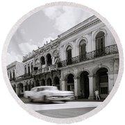 The Streets Of Havana Round Beach Towel