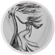 In The Wind She Dances Round Beach Towel