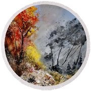 In The Wood 453101 Round Beach Towel