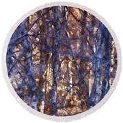 In The Woods V5 Round Beach Towel