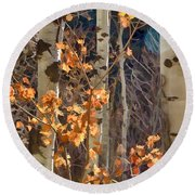 In The Woods V6 Round Beach Towel