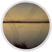 In These Peaceful Moments Round Beach Towel by Laurie Search