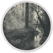 In This Silence Round Beach Towel by Laurie Search