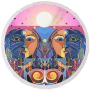 In Unity And Harmony Round Beach Towel