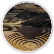 Inca Crop Circles At Moray Round Beach Towel