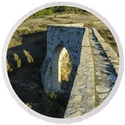 Incekaya Aqueduct Round Beach Towel